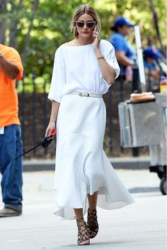 Olivia Palermo's Guide to Wearing All White via @WhoWhatWear