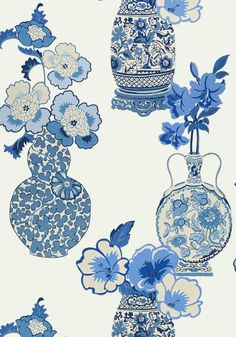 CLARISSA, Blue and White, AT6107, Collection Serenade from Anna French