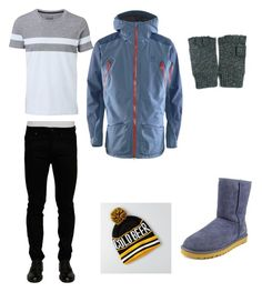 """Ryder winter"" by ana-vivier ❤ liked on Polyvore featuring Acne Studios, Witchery, UGG, Haglöfs, American Eagle Outfitters, men's fashion and menswear"
