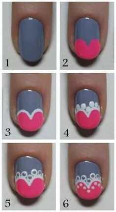 #Nails - i would change the colours but this is a great step by step
