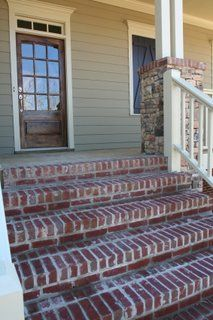 Brick Front Steps With Stone Columns | Just Five Steps To Building Brick Patio  Steps
