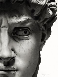 sassyconnoisseurchopshop: david sculpted by michelangelo....