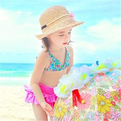 New girls kid swimwear cute floral bikini child swimsuit sun suit dress baby girls swimsuit neck ties three piece dot bikinis Spain ** AliExpress Affiliate's Pin. Offer can be found online by clicking the image Baby Girl Dresses, Baby Dress, Baby Girls, Floral Bikini, Bikini Set, Kids Swimwear, Swimsuits, Baby Girl Swimsuit, Neck Ties
