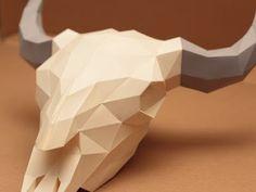 Bison Skull Papercraft V2 - Disk Google