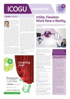 This was a newsletter developed for our client GE Healthcare to connect with the customers at the event of ICOGU.