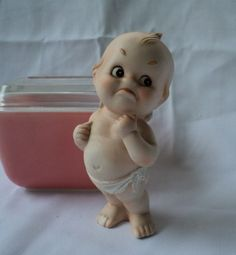 Krabby kewpie/You talking to me? - devil horns, red diaper, spiked tail & a pitchfork, eh?