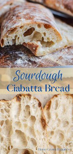 Sourdough Ciabatta Recipe, Easy Sourdough Bread Recipe, Sourdough Pizza, Best Bread Recipe, Artisan Bread Recipes, Vegan Bread, Italian Bread, Vegan Sweets, Pinterest Recipes