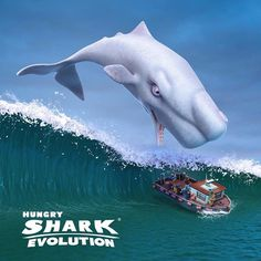 """Before the Shark, there was the Whale... Introducing Moby Dick, the biggest predator in Hungry…"""