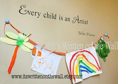 Every Child is an Artist Art Gallery Kids by ItsWrittenOnTheWall, $12.89