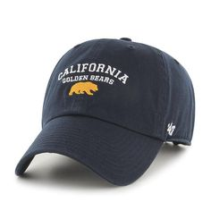 California Golden Bears 47 Washed Twill Adjustable Cap- Navy-Shop College Wear Hat World, California Golden Bears, College Wear, Navy Cap, Spirit Wear, Hats For Sale, Hats For Women, Caps Hats, Baseball Hats