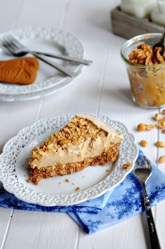 Peanut Butter Ice Cream Pie with a Biscoff Cookie Crust