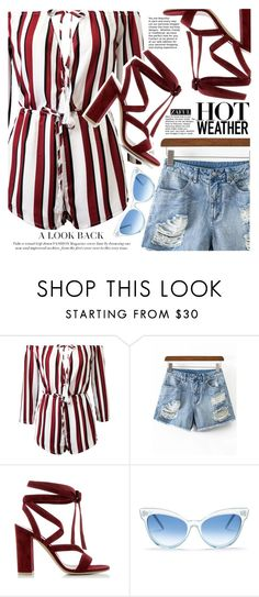 """""""Coolfor the summer"""" by vanjazivadinovic ❤ liked on Polyvore featuring Gianvito Rossi, Wildfox, polyvoreeditorial and zaful"""
