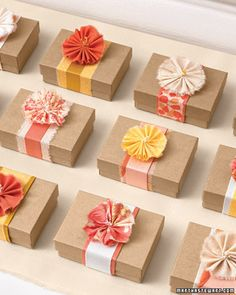 Brown paper packages tied up with string... um, I mean ribbon.