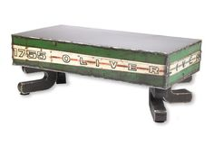 Reclaimed Metal Oliver Coffee Table by ShopGatski on Etsy