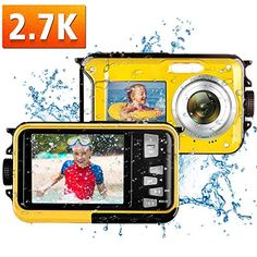 Waterproof Camera Underwater Camera Full HD 2.7K 48MP Waterproof Digital Camera for Snorkeling 16X Digital Zoom Point and Shoot Selfie Dual Screen Price: $78.88 #technology >#mobiecharger >>#phoneaccessories>>>#computeraccessories > Follow us @fastmart24 #fastmart24