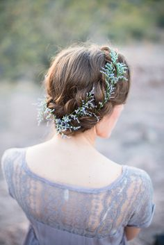 Braided crown with lavender