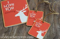 Under A Cherry Tree - tags with LD Valentine cards