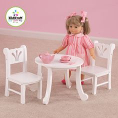 KidKraft Lil Doll Table and Chair Play Set | Overstock.com Shopping - Big Discounts on KidKraft Furniture & Accessories