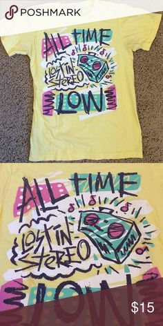 All Time Low band screen print tee All Time Low band tee! Screen print is a little faded but this is still the ultimate band tshirt. Loveeeeee wish it still fit! Tops Tees - Short Sleeve