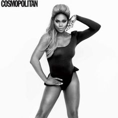 """In the October 2016 edition of """"Cosmopolitan,"""" Laverne Cox pays tribute to her…"""