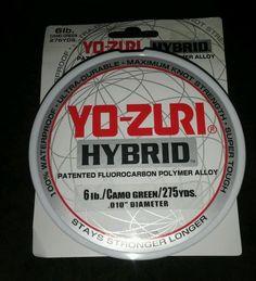 Yo-Zuri ●Fluorocarbon ●Hybrid Nylon Polymer Line ●Camo Green● 275yd Spool ●6lb #YoZuri