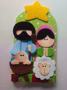 1 million+ Stunning Free Images to Use Anywhere Nativity Ornaments, Nativity Crafts, Christmas Nativity, Christmas Door, Diy Christmas Ornaments, Felt Christmas, Felt Ornaments, Christmas Decorations, Holiday Decor