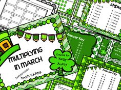 """Your students will think they have hit a pot of gold with this fun, differentiated multiplication bundle!  What a great way to """"March into Math""""!"""
