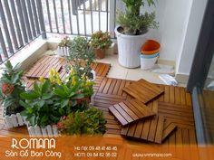 Wood Deck Tiles, Terrazzo, Balcony, Garden, Outdoor Decor, Plants, Home Decor, Garten, Decoration Home