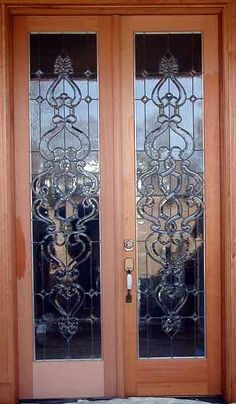 beveled glass panels doors | Inspirational Stained Glass - french-door- beveled-glass & Stained Glass Beveled French Door Pezcame.Com