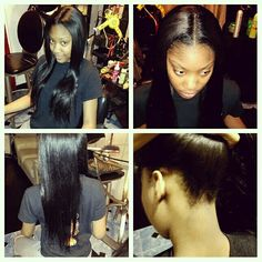 Sew in/ hairbymzfelicia Stylists, Sewing, Hair Styles, Beauty, Hair Plait Styles, Dressmaking, Couture, Stitching, Hair Makeup