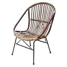 Flat Rattan Wing Chair Furniture Chair Ideas Pinterest