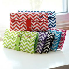 Personal Creations #Gifts  #Personalizedgifts Chevron Makeup Roll Brush Set | Personal Creations #giftidea - Great Personalized Gifts via- http://www.AmericasMall.com/personalcreations-gifts