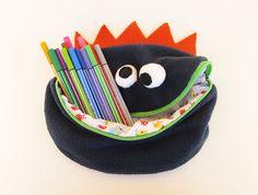 A fun monster pencil case.