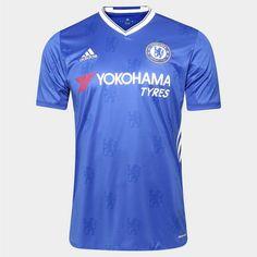 Camisa Chelsea Home 17 18 - Torcedor Nike Masculina - Azul Promoção 0416f697bcefd