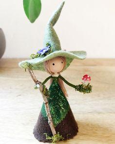 Wood Peg Dolls, Clothespin Dolls, Halloween Fairy, Michaels Craft, Fairy Crafts, Flower Fairies, Fairy Dolls, Diy Doll, Witches
