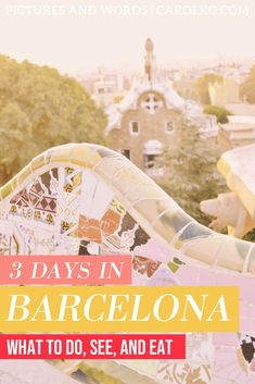This comprehensive 3 days in Barcelona itinerary is packed full of insider tips on what to do, where to eat, where to stay, how to get around, and more! Backpacking Europe, Europe Travel Guide, Europe Destinations, Spain Travel, Travel Guides, Barcelona Travel Guide, Barcelona Trip, Barcelona Spain, Menorca