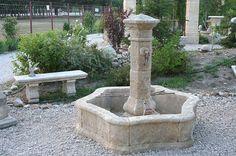 Limestone Hex Fountain