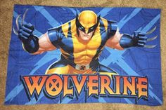 Marvel Wolverine twin sheets, includes 1 pillow case, 1 flat & 1 fitted sheet. Gently used & coloring is still very good. | eBay!