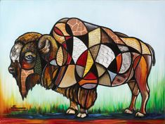 Love this buffalo by Steve Schuman ( he is my favorite artist)