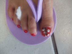 Spring Pedicure nail art !Japanese sakura nail art. #beautiful, #Flower, #pedicure, #art, #sakura