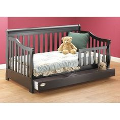 Orbelle Toddler Bed With Storage Drawer Finish Espresso