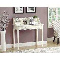 Monarch Traditional Secretary Desk - White