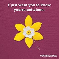 Create awareness this April and show Canadians touched by cancer that they are not alone. #MyDaffodil