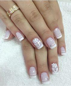 Nail Polish Designs, Cute Nail Designs, Acrylic Nail Designs, Sexy Nails, Classy Nails, Bridal Nail Art, Simple Acrylic Nails, Lace Nails, Nail Photos