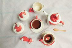 Fox Tea Set
