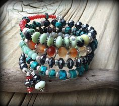Arm Candy - FOUR Layers of Gemstones Wrap by barbmallonjewelry, $122.00