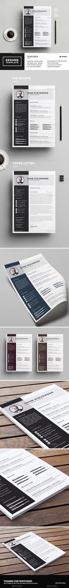 Resume Template PSD, MS Word