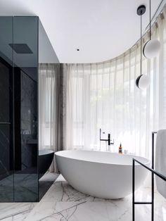 Beautiful Interior Design, Modern Interior Design, Best Bathroom Designs, Bathroom Ideas, Next Bathroom, Glass Shower Enclosures, Restroom Design, Bathroom Toilets, Grey Bathrooms