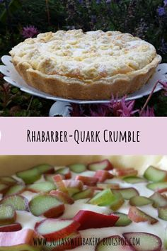 Rhabarber Quark Crumble – Well come To My Web Site come Here Brom Rhubarb Curd, Gourmet Recipes, Cooking Recipes, Sweet Bakery, Happy Kitchen, Rhubarb Recipes, Cake Cookies, Quiche, Vanilla Cake