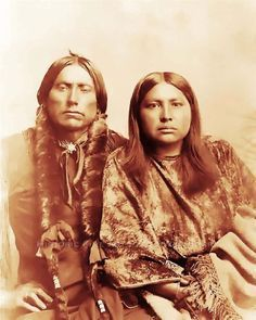 COMANCHE INDIAN CHIEF QUANAH PARKER & WIFE PHOTO NATIVE AMERICAN 1895
